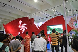 Wonderful moment of exhibition